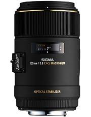 Sigma 105 mm F2,8 EX Makro DG OS HSM-lens (62 mm filterdraad) voor Canon objectiefbajonet, zwart