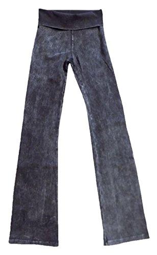 Hard Tail Rolldown Bootleg Flare - Mineral Wash - Black (M, Mineral Wash - Black)