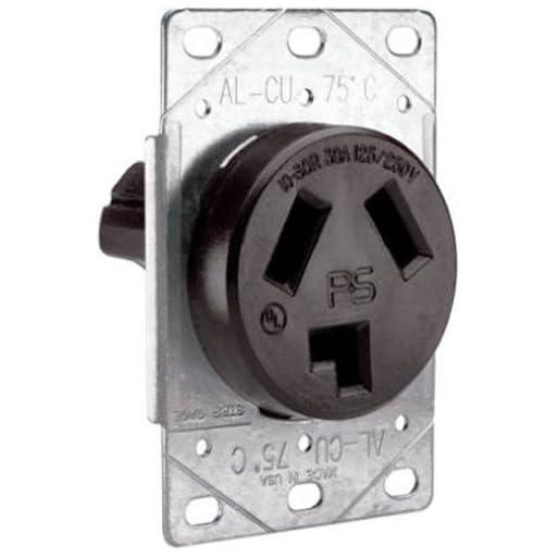 Legrand - Pass & Seymour 3860CC6 Flush Outlet 30-Amp 125-volt/250-volt Three Pole Three Wire