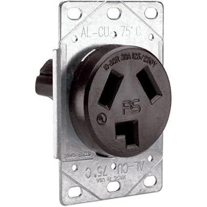 30 Amp Outlet >> Legrand Pass Seymour 3860cc6 Flush Outlet 30 Amp 125 Volt 250 Volt Three Pole Three Wire