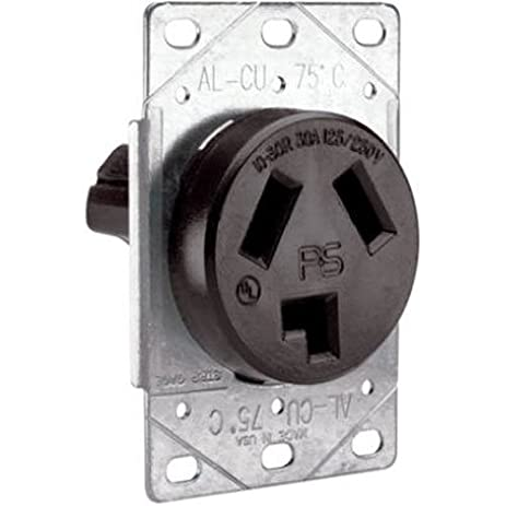 Legrand-Pass & Seymour 3860CC6 Flush Outlet 30-Amp 125-volt/250 ...
