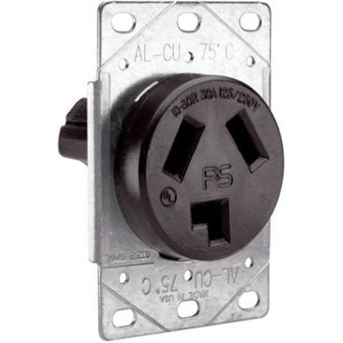 Legrand-Behind the times & Seymour 3860CC6 Flush Outlet 30-Amp 125-volt/250-volt Three Pole Three Wire