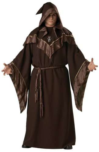 [InCharacter Costumes Women's Plus Size Mystic Sorcerer Costume, Brown, 3XL] (Sorcerer Costume For Men)