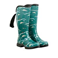 HOOFiTZ Fox Hunter Forest Green - Waterproof Equestrian Rain Boots