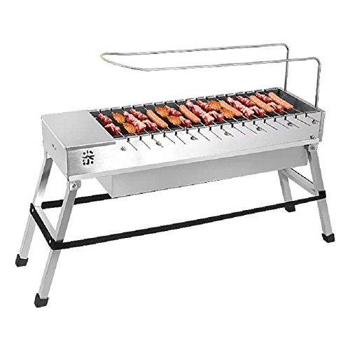 (Spark4grill Automatic Rotating Charcoal BBQ Grill Barbecue Stainless Steel(complete set))