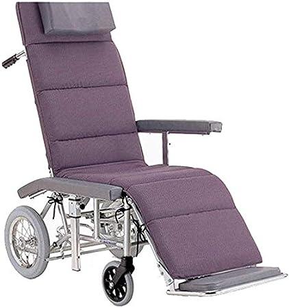 CHAIR Silla de ruedas, silla de rehabilitación médica para personas mayores, personas mayores, silla de ruedas de aluminio Lite, marco liviano y plegable, silla de ruedas propulsada auxiliar, silla d