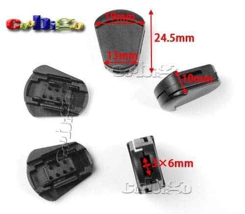 Dalab 100pcs Pack 15/64''(6mm) Plastic Detach Stopper Cord Ends Buckle for Apparel Sportwear Paracord Accessories #FLS211-B by DalaB