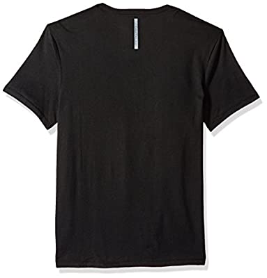 Calvin Klein Jeans Men's Short Sleeve Double Strokes Logo V-Neck T-Shirt
