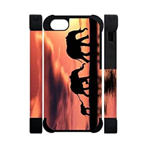 Canting_Good Elephant Custom Dual-Protective 3D Polymer Case Shell Skin for IPhone 5