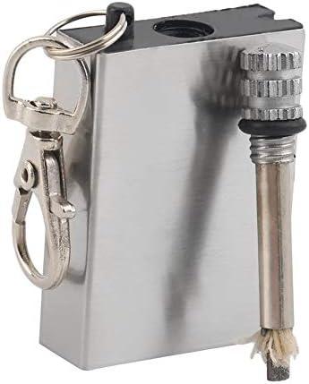 Survival Camping Emergency Fire Starter Flint Match Lighter Key Chain Square