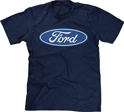 Blittzen Mens Blue Ford Logo, L, Navy Blue