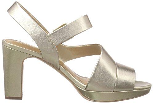 Clarks Jenness Soothe Damen Slingback Gold (Gold Leather)