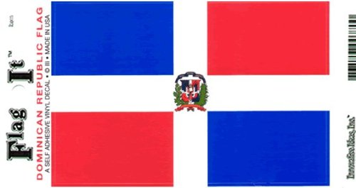 Dominican Republic flag decal for auto, truck or boat