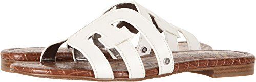Sam Edelman Women's Bay Bright White Vaquero Saddle Leather 7 W ()
