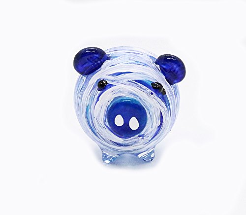 Hand Blown Art Glass,Pig Mummy Miniature Animals Collection, Dollhouse Miniatures,by Audomna Shop.(e002)