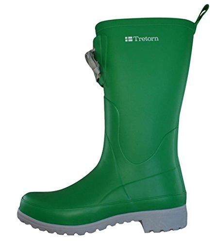 Tretorn Soho femmes latex Wellington Boots - vert