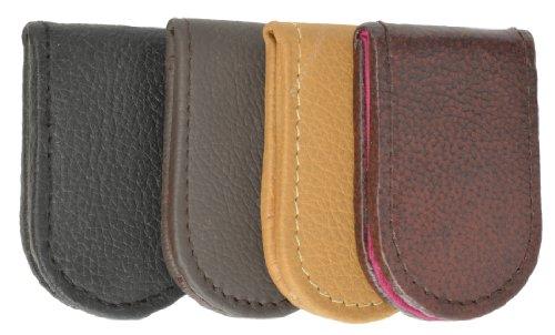 Fine Genuine Leather Magnetic Money Clip (Tan) ()