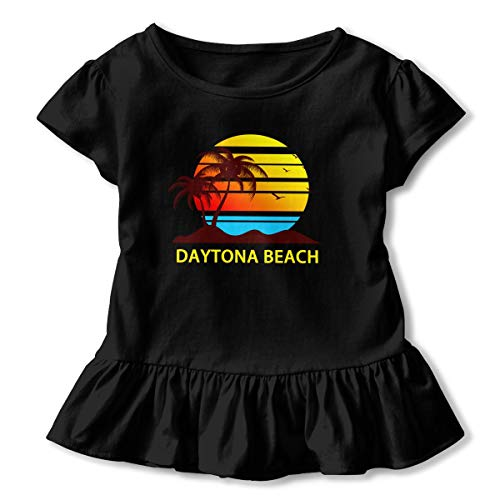 Sheridan Reynolds Daytona Beach Surf Toddler Girls' T Shirt Cotton Basic Outfit Tee Black -