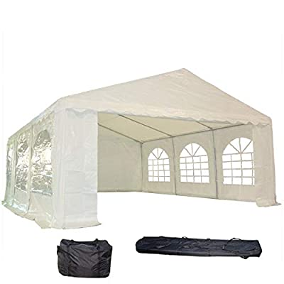 DELTA Canopies 20'x16' PE Party Tent - Heavy Duty Wedding Canopy Carport - with Storage Bags