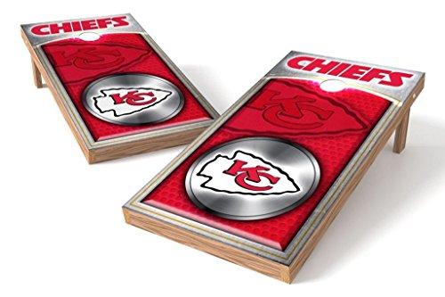 PROLINE NFL 2'x4' Kansas City Chiefs Cornhole Set with Bluetooth Speakers - Medallion Design ()