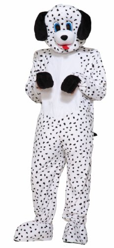 Hundred One And One Dalmatians Costume (Forum Novelties Men's Dotty The Dalmatian Plush Mascot Costume, Multi Colored, One)