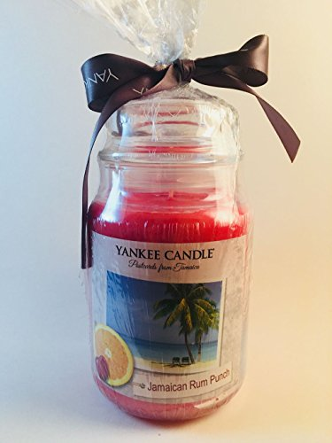 Yankee Candle Large Postcards from Jamaica JAMAICAN RUM PUNCH Jar Candle with a Moroccan Copper Iluma-Lid Jar Candle Topper