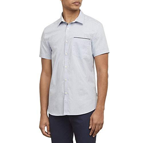 Kenneth Cole New York Short Sleeve Mini Dot Print Shirt Dusty ()