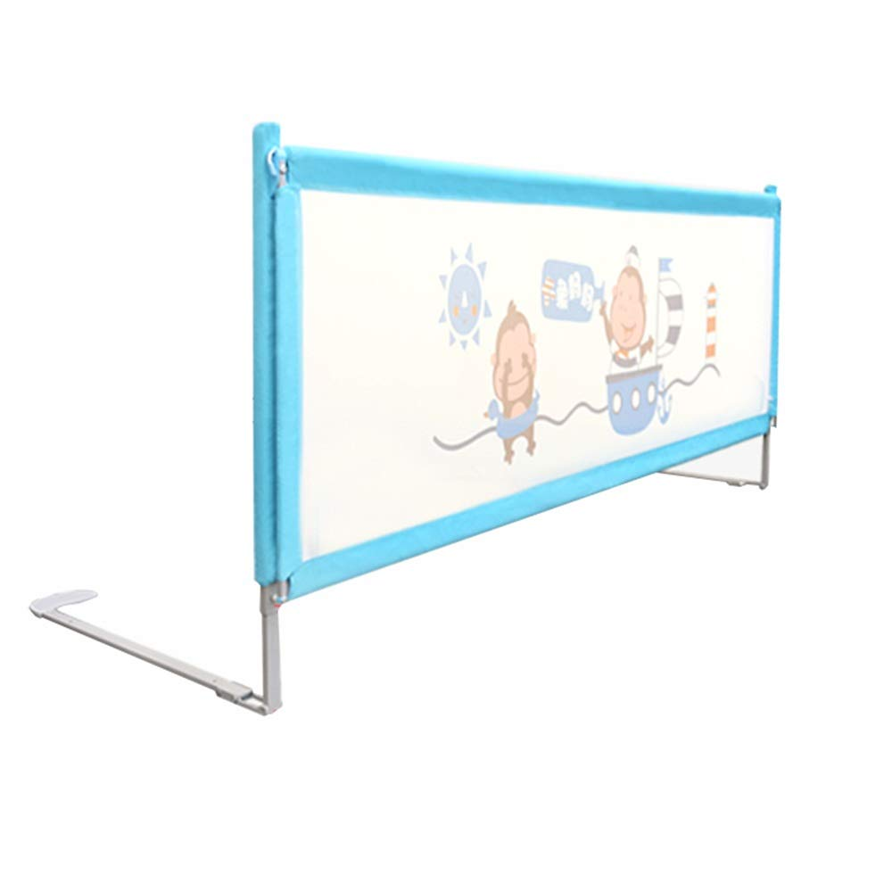 Bed Rails NAN Liang Bed Guardrail Full Size Folding Adjustable Kids Twin Double Queen Fence for Kids Girls Boys, Blue (Size : 150cm) by Bed Rails (Image #1)