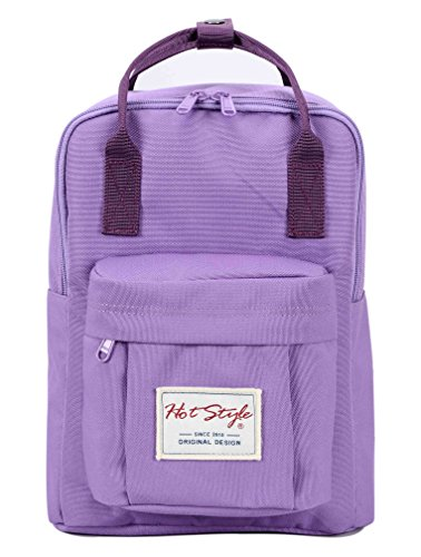"Bestie 12"" Cute Mini Small Backpack Purse Travel Bag - Lightpurple"