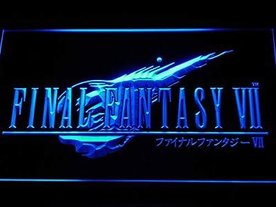 Final Fantasy VII FF7 PS2 Video Game LED Sign Light Blue