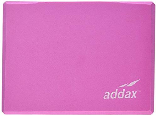 Addax Bloque de Yoga y Pilates de cabeza de espuma EVA, 20,5 cm x 15 cm x 2,5 cm rosa