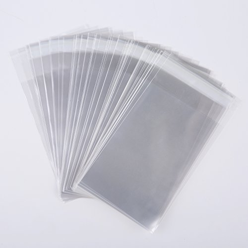 Clear Cellophane Bags 4x6 inch Resealable Gift Wrap 1.6mil 100pc by MOWO (Photo Wraps Favor)