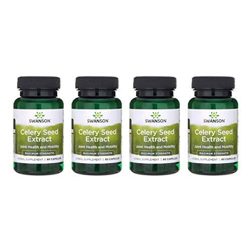 - Swanson Celery Seed Extract (Cellery) Urinary Health Antioxidant Support Phytochemicals Volatile Oils Supplement Maximum Strength 150 mg 60 Capsules (4 Pack)