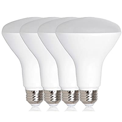 CTKcom LED Flood Light Bulb 7W(4 Pack)- BR63 LED Bulbs 65W Equivalent Indoor/Outdoor Lighting Super Bright 6500K Daylight White 120° Beam Angle LED Indoor Flood Light Bulbs,UL Listed,E26/E27 Base