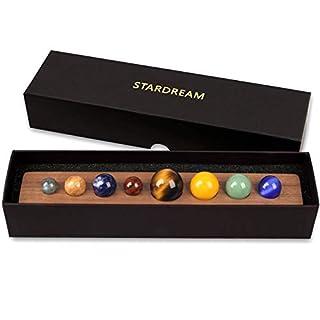 TongYue Desk Planets Handmade Natural Gemstone Celestial Creative Gift Home Decorations