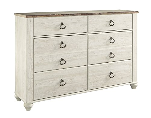 Ashley Willowton Six Drawers Dresser In White