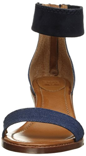 Frye Brielle Back Zip Sandal - Sandalias de vestir Mujer Denim-73602