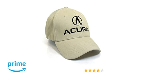 Amazoncom Acura Flex Beige Baseball Cap LXL Automotive - Acura hat