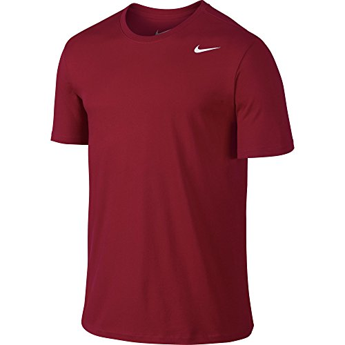 NIKE Men's Dri-FIT Cotton 2.0 Tee, Gym Red/Gym Red/White, Small by Nike (Image #1)