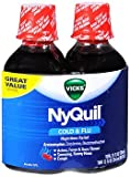 Vicks NyQuil Cold & Flu Nighttime Relief Liquid Cherry - 24 oz, Pack of 6