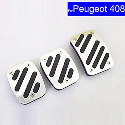 Amazon.com: SZSS-CAR Car New Aluminium Alloy Fuel Petrol Clutch Fuel Brake Braking Pad Foot Pedals Rest Plate Set For Peugeot 307 308 408 Pedals: Automotive