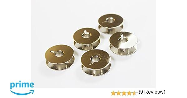 La Canilla ® - Pack de 5 Canillas Metálicas para Máquina de Coser REFREY 427-430