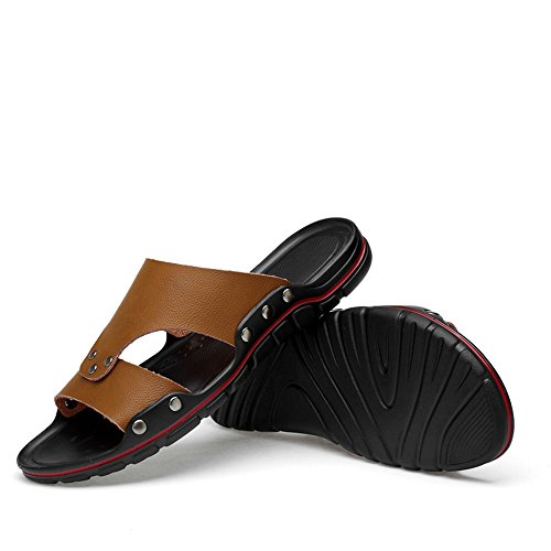Cricket Marrone da da Traspirante on Scarpe e Slip Morbido Tacco Uomo Slipper Piatto Fashion HPxO7
