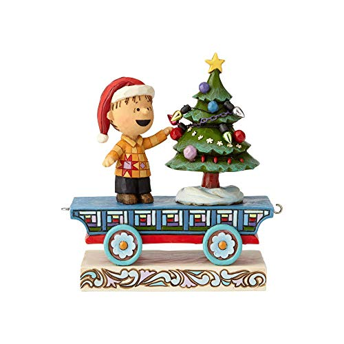Enesco Peanuts by Jim Shore Linus Train Car Figurine, 4.72