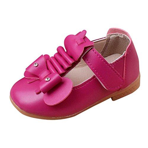 wuayi Mädchen Sandalen Hot Pink