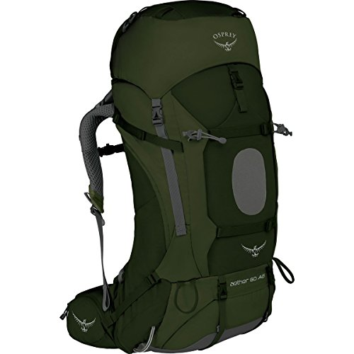 Osprey Packs Aether Ag 60 Backpack, Adriondack Green, Md, Adirondack Green, Medium