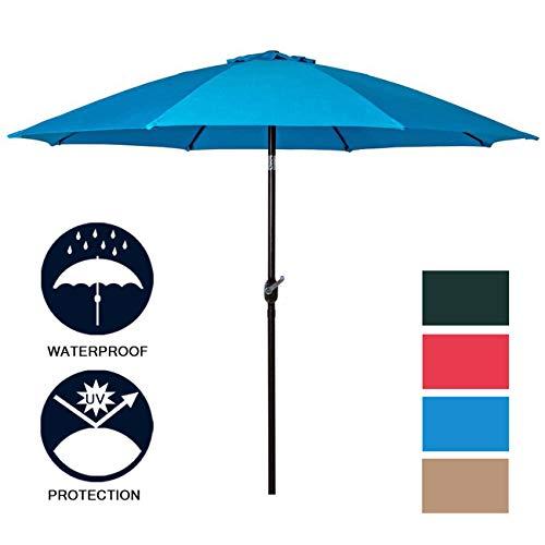 Rectangle Guard Liner (Sunnyglade 9' Patio Umbrella Outdoor Table Umbrella with 8 Sturdy Ribs (Aqua Blue))
