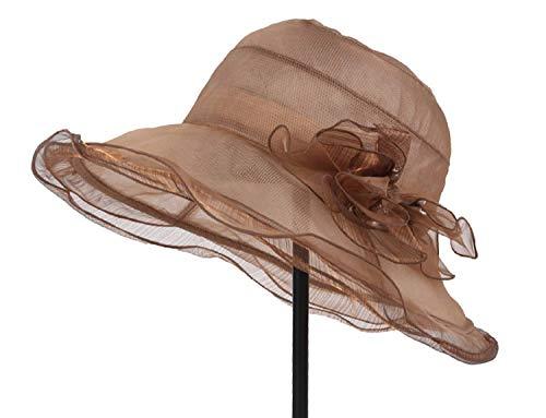 Delgado Tamaño Marrón Sombreros Vacaciones Aleros Marrón color Exterior Un Plegable Señoras Verano Tamaño Del Grandes Hhgold Sol De 1w4aAxw