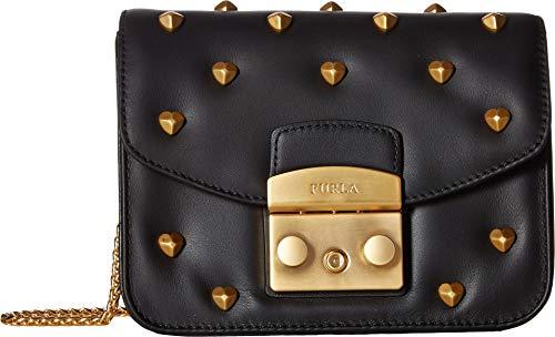 Furla Women's Metropolis Amoris Mini Crossbody Bag, Onyx, Black, One Size (Furla Heart)
