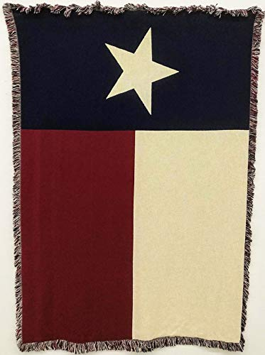 - Pure Country Weavers - Texas Flag Woven Throw Blanket with Fringe USA 70x50